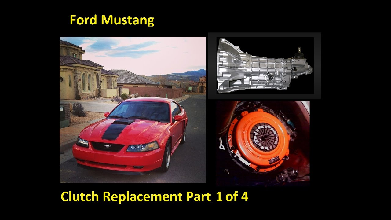 how to change a clutch flywheel throw out bearing ford mustang part 1 of 4 reparar embrague [ 1280 x 720 Pixel ]