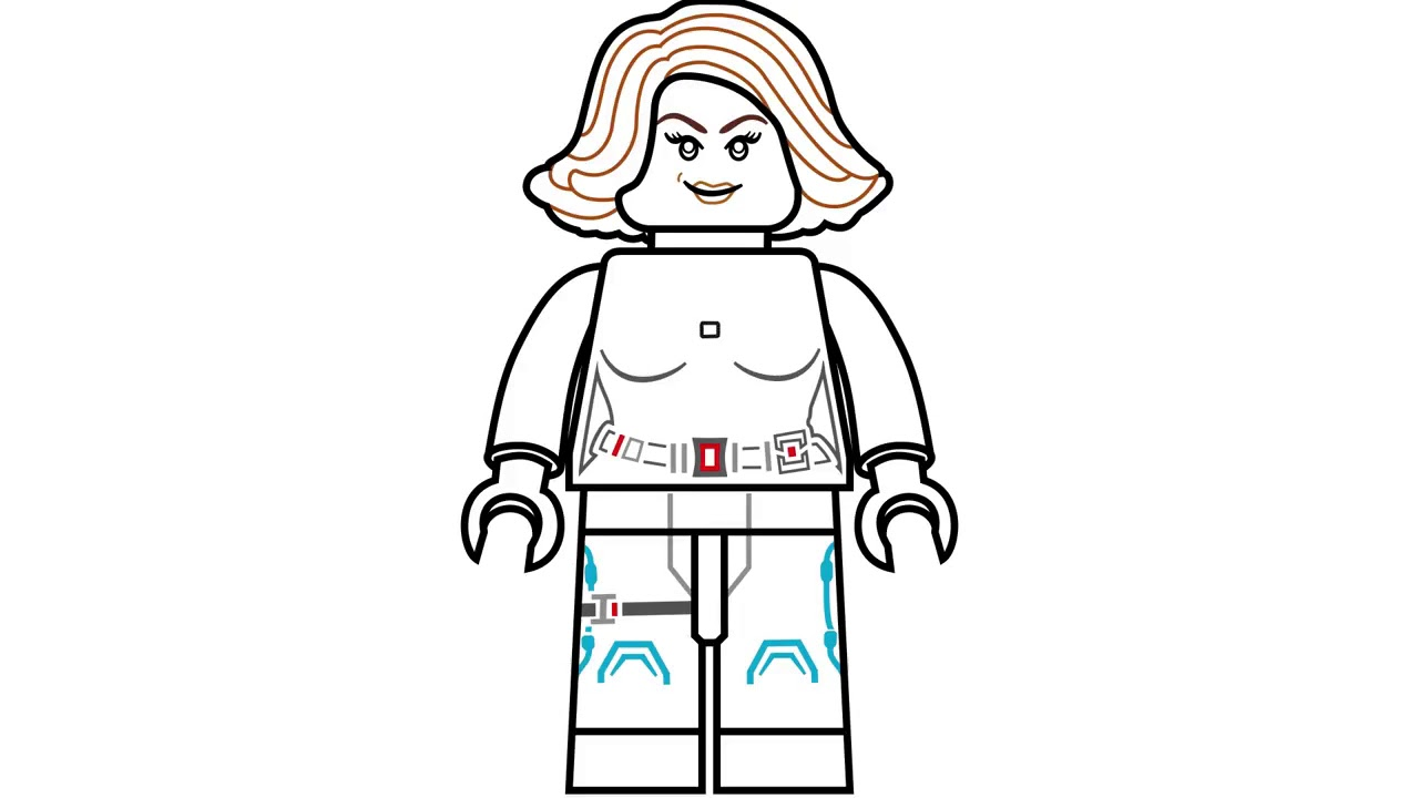 New How To Draw Lego Black Widow From Marvel S The Avengers Age Of Ultron Youtube