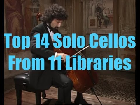 14 Cellos From 11 Top String Libraries