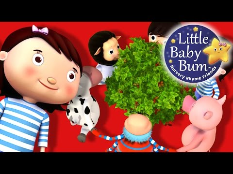 Here We Go Round The Mulberry Bush | Nursery Rhymes | by LittleBabyBum!