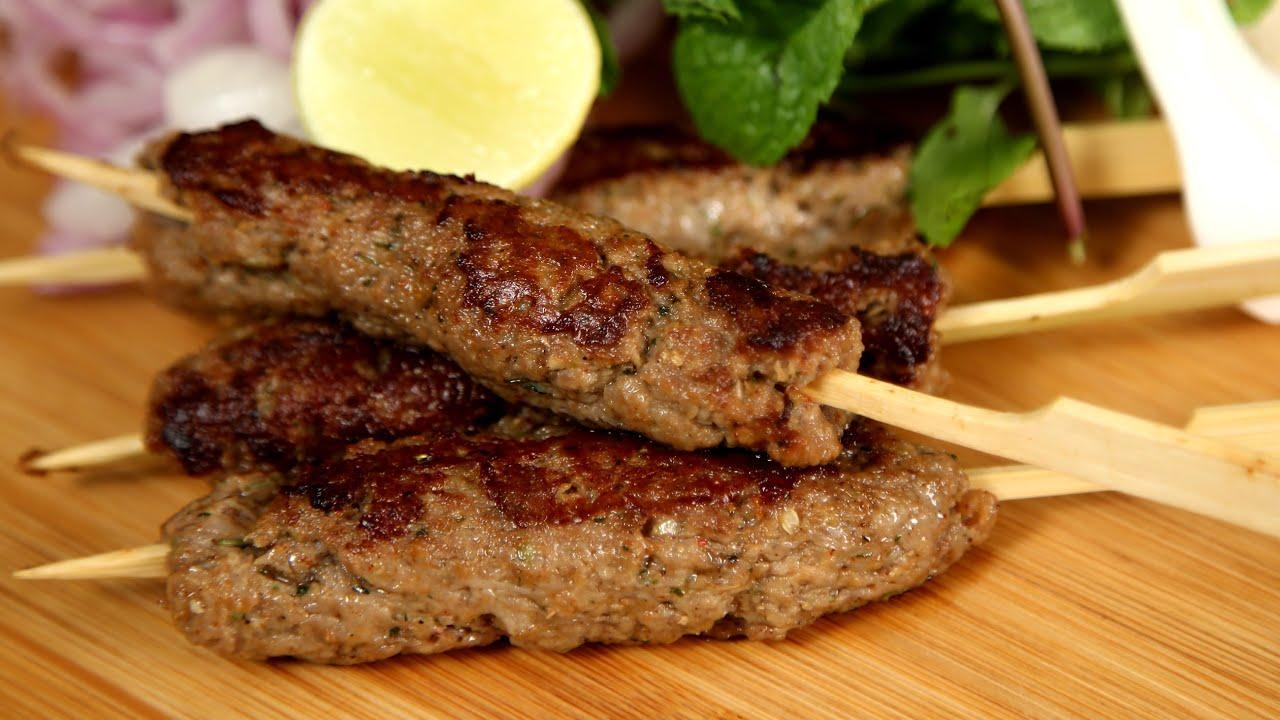 Mutton Seekh Kebab | Kebabs on Skewers – Easy Recipe