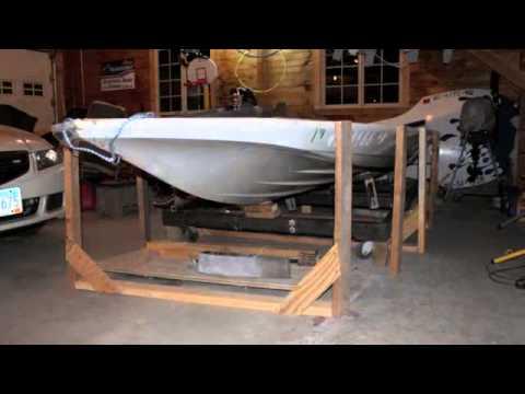 Glastron transomstringerfloor repair  YouTube
