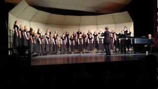 """Tigard High School Adv Treble Choir singing """"Dar Kom Die Alabama"""" by Jeffrey Haskell 3/12/14 SpringC"""