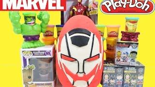 Giant Ultron Surprise Egg Play Doh Marvel Avengers Age Of Ultron Iron Man Easter Egg!