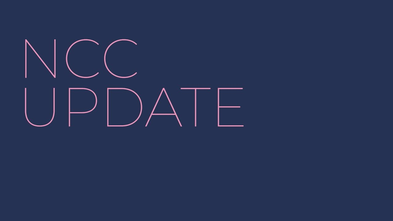 NCC May 20th Update