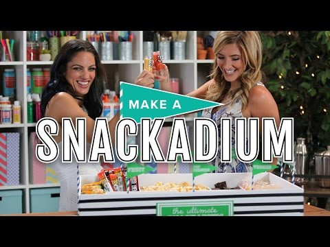Super Bowl Party Food - How To Make A Snack Stadium | Make. Talk.