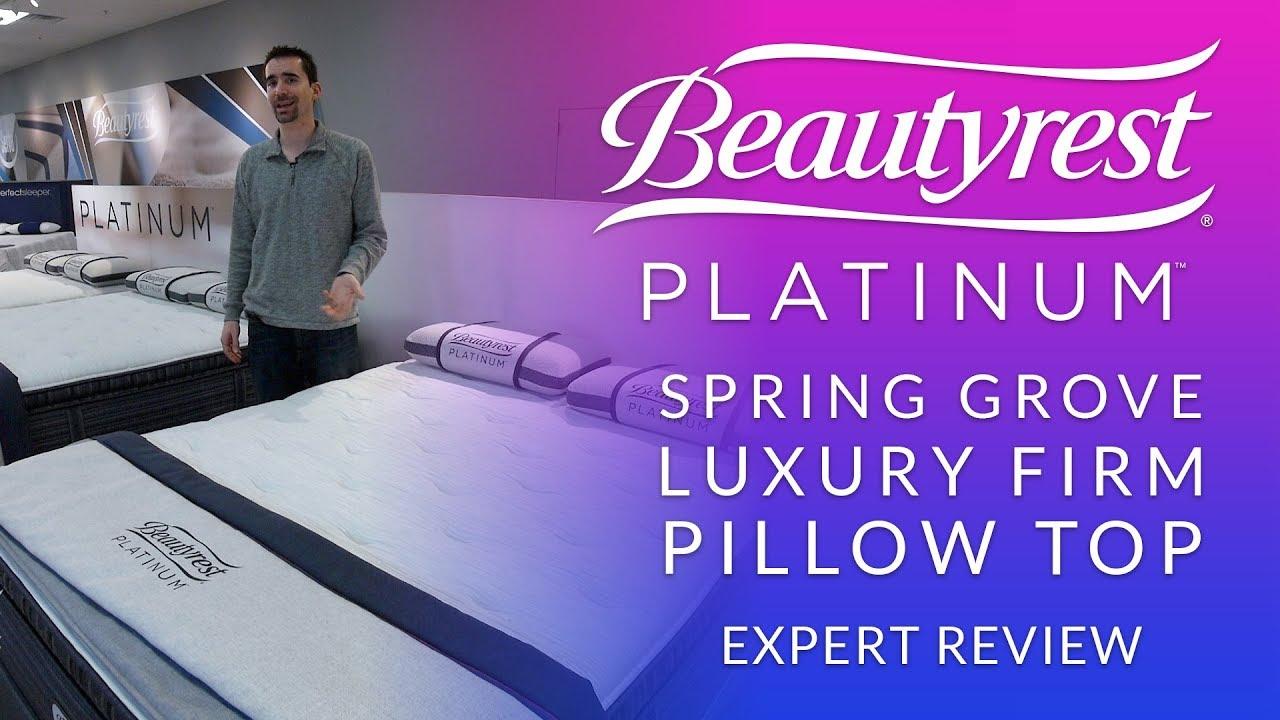simmons beautyrest platinum spring grove luxury firm pillow top mattress expert review