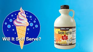 🍁  Maple Syrup - Will It Soft Serve?