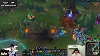 Faker's first time playing spectator Nidalee!! I've seen this somewhere..?! [ Full Game ]