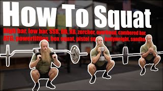 How To Squat - Any Style