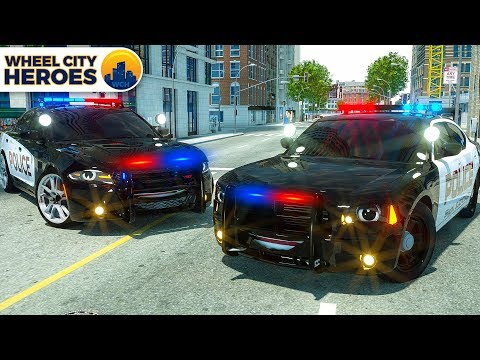 Police Car Lucas Tyre Stuck in Resin | Wheel City Heroes (WC