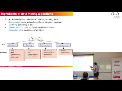 """Conferencia """" Combining metaheuristics with mathematical programming and machine learning"""""""