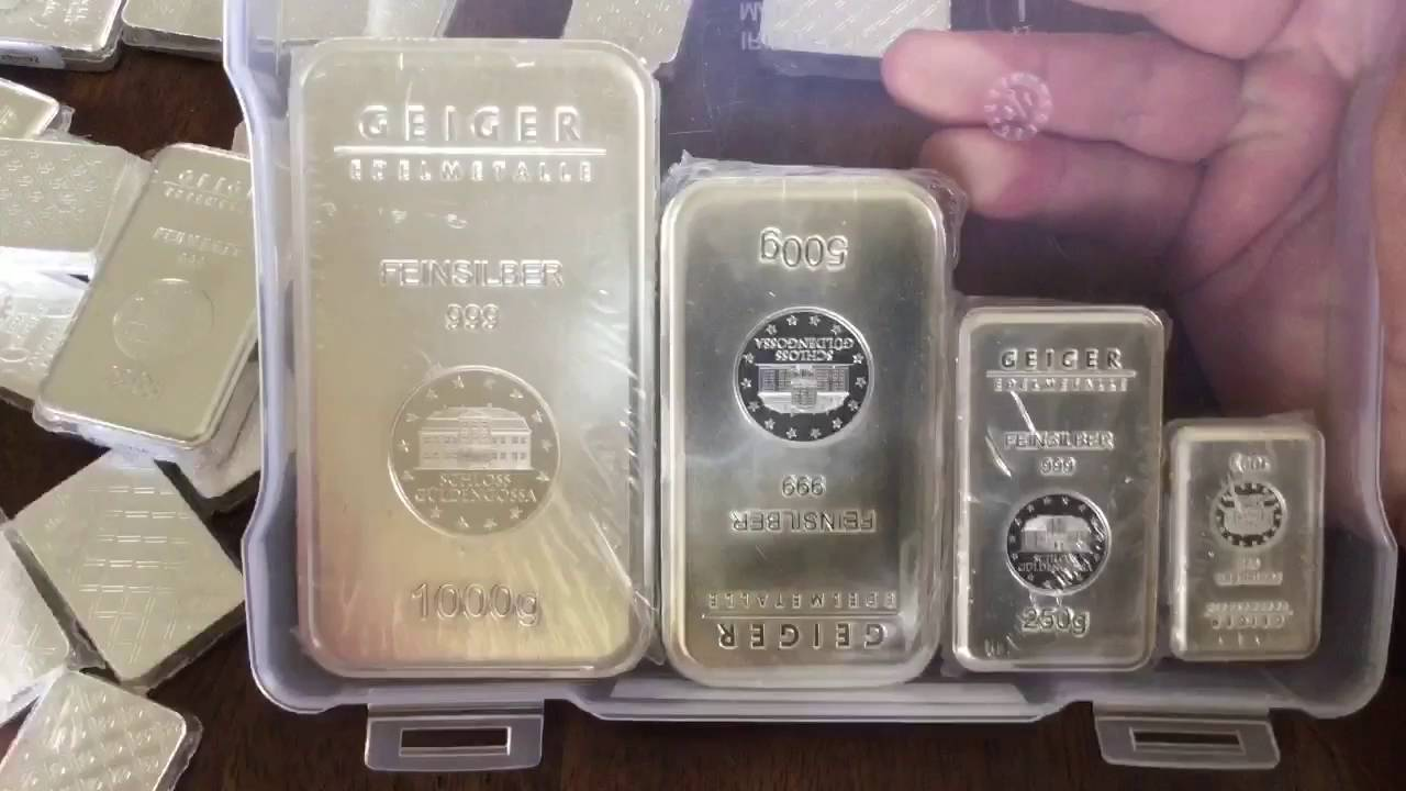 Stacking Silver Kilo Geiger Bar 450 Other Geiger Grams