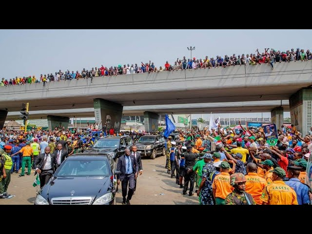 President Muhammadu Buhari During his Visit to Lagos State For APC Presidential Campaign Rally Today