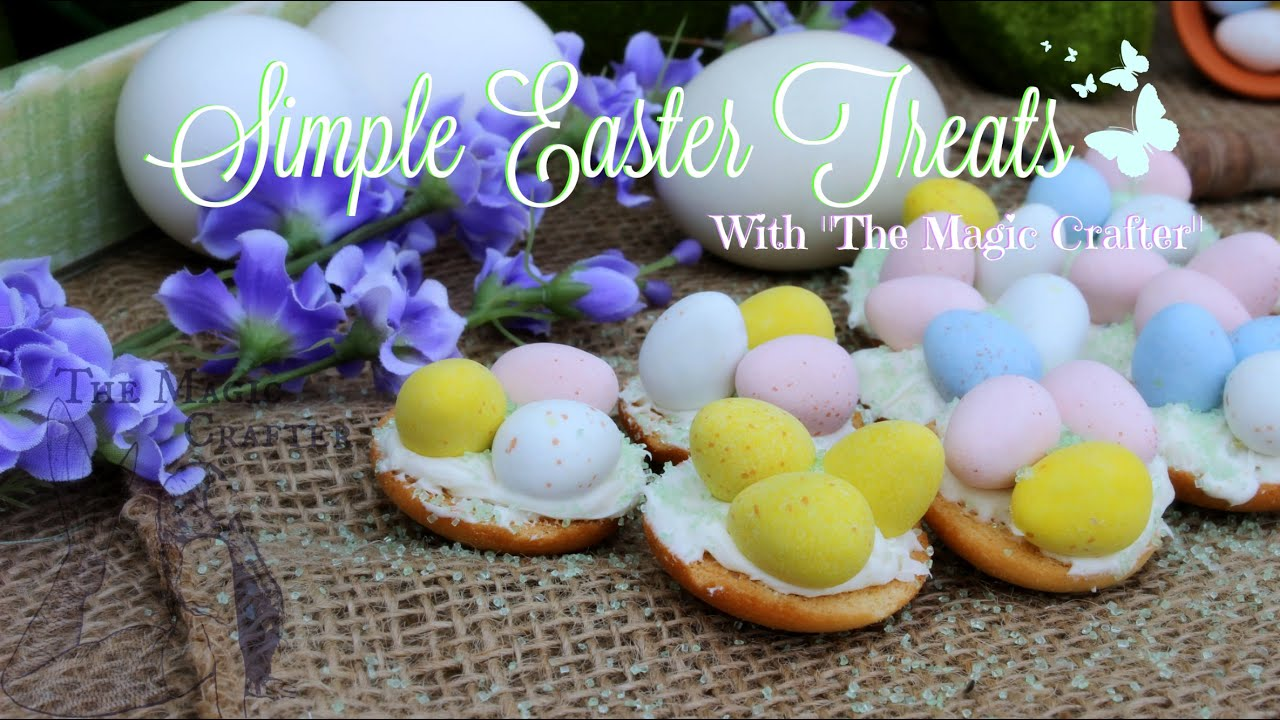 Quick and easy easter dessert chocolate bird nest spring for Quick and easy easter treats recipes