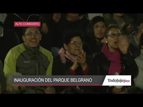 Una multitud disfrutó del show de inauguración del Parque Belgrano