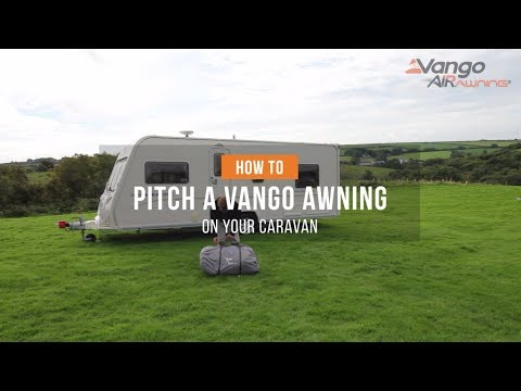 How To Pitch An Awning On Your Caravan Filmed 2018 Youtube