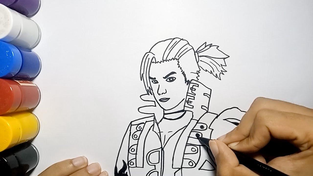 Menggambar Hayato Dari Free Fire How To Draw Free Fire Hayato Youtube