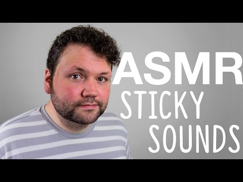 ASMR Sticky Sounds | Tapping and Plastic Wrap Over Mic + Whispering