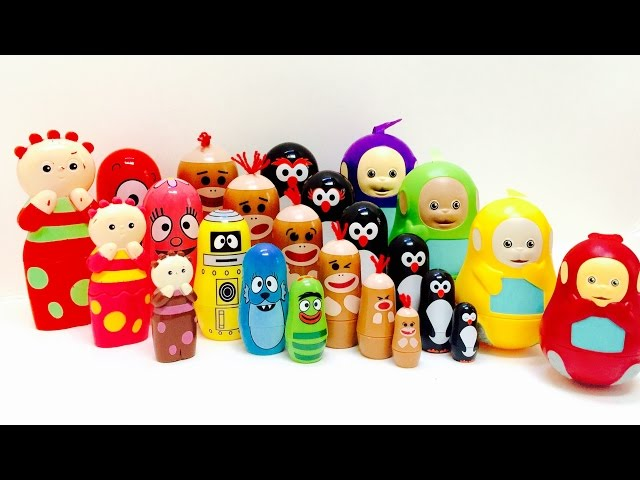 TELETUBBIES, YO GABBA GABBA and In The Night Garden Nesting Dolls Toy Collection!