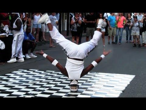 Head Spins + Head Slide - Bourbon Street Breakdancing