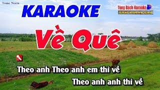 Về Quê Karoke 123 HD (Tone Nam) - Nhạc Sống Tùng Bách