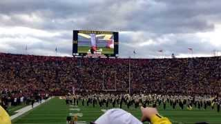 Parachuting into Michigan Stadium - 11/9/13