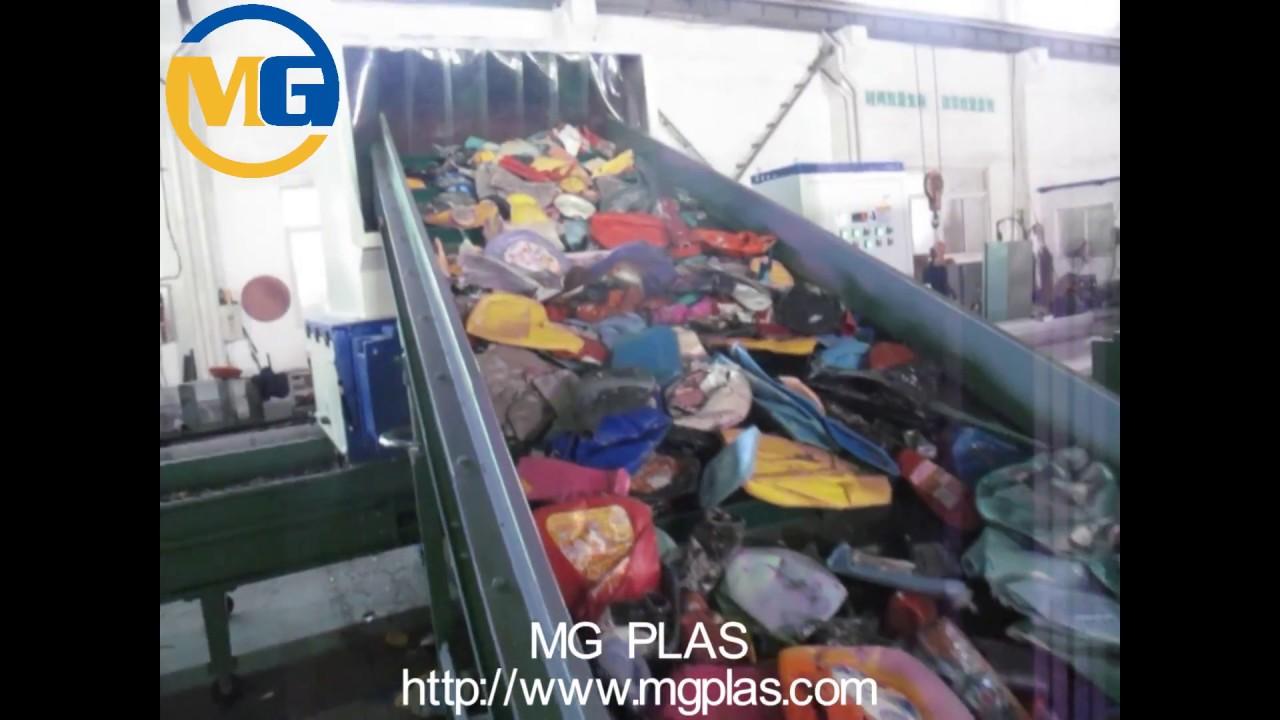 PP PE plastic bottle crushing washing and drying recycling line/PP PE  bottle recycling machine