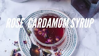 Rose Cardamom Syrup | Quick Condiment for several usage