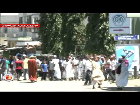 Anti-riot police disperse youths in Mombasa