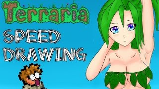 Terraria Speed Drawing - Sexy Dryad