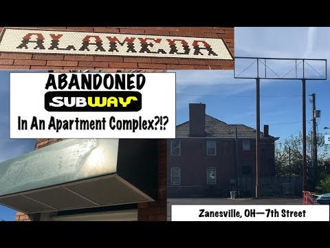 ABANDONED SUBWAY RESTAURANT  In An APARTMENT COMPLEX?!?--Zanesville, OH