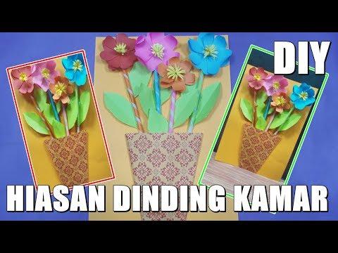 Cara membuat Bunga Hiasan Dinding Cantik dan Sederhana DIY Origami Kreasi kerajinan Tangan
