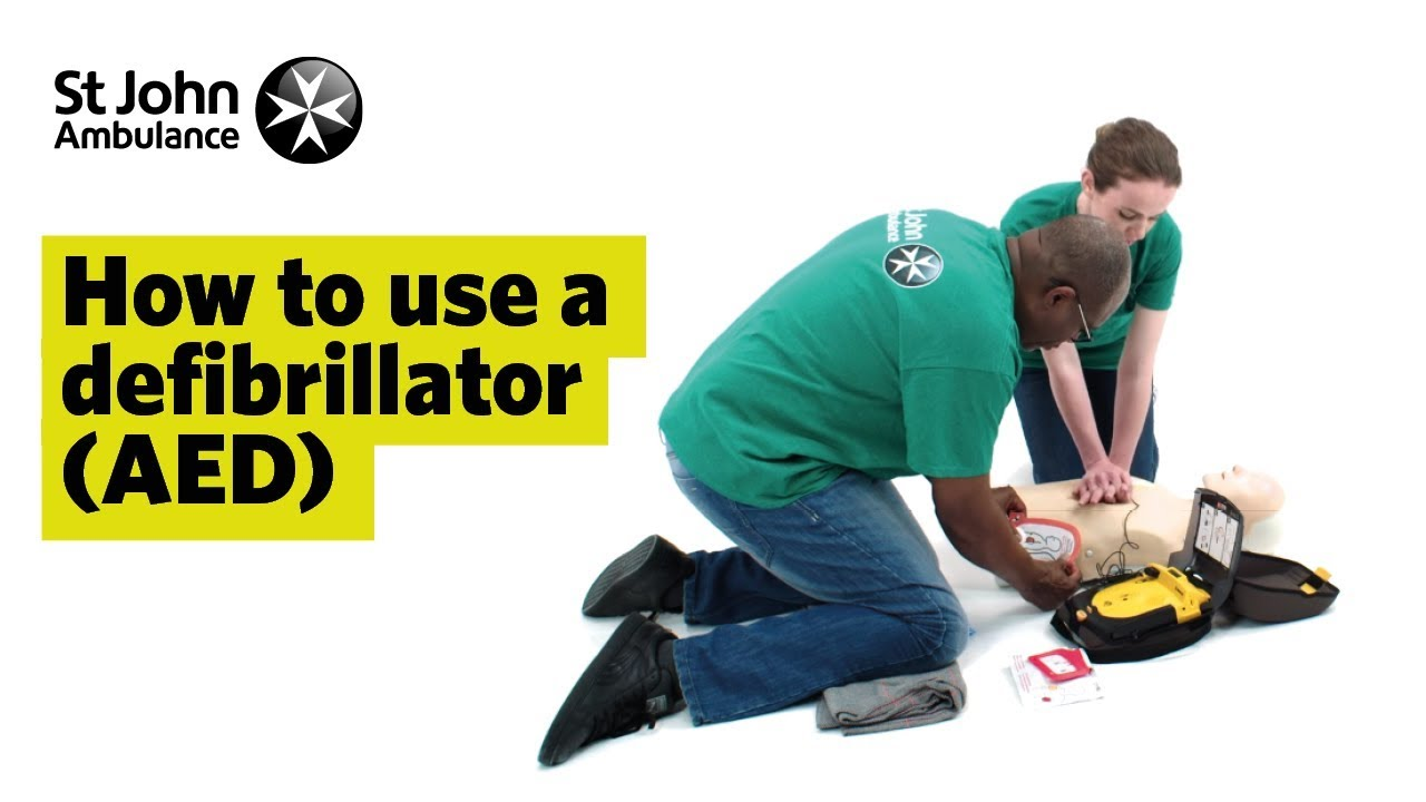 How To Use A Defibrillator Aed First Aid Training St John