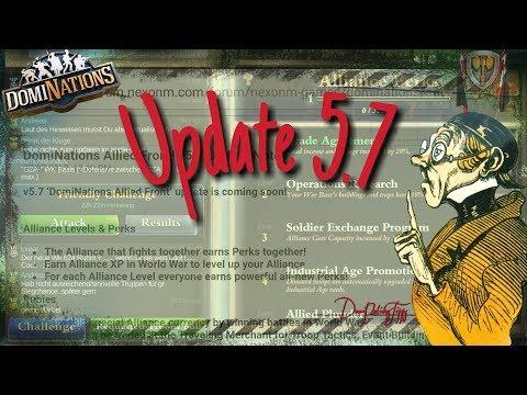 """#470. DomiNations Update 5.7 """"Alliierte Front"""" - Allianz Lv und WK Replays?"""