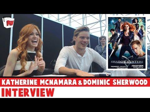 SHADOWHUNTERS: Katherine McNamara & Dominic Sherwood Interview - NYCC 2015