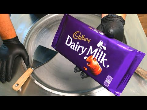 Ice Cream Rolls | Cadbury - Dairy Milk Chocolate Ice Cream / fried Thailand rolled ice cream roll
