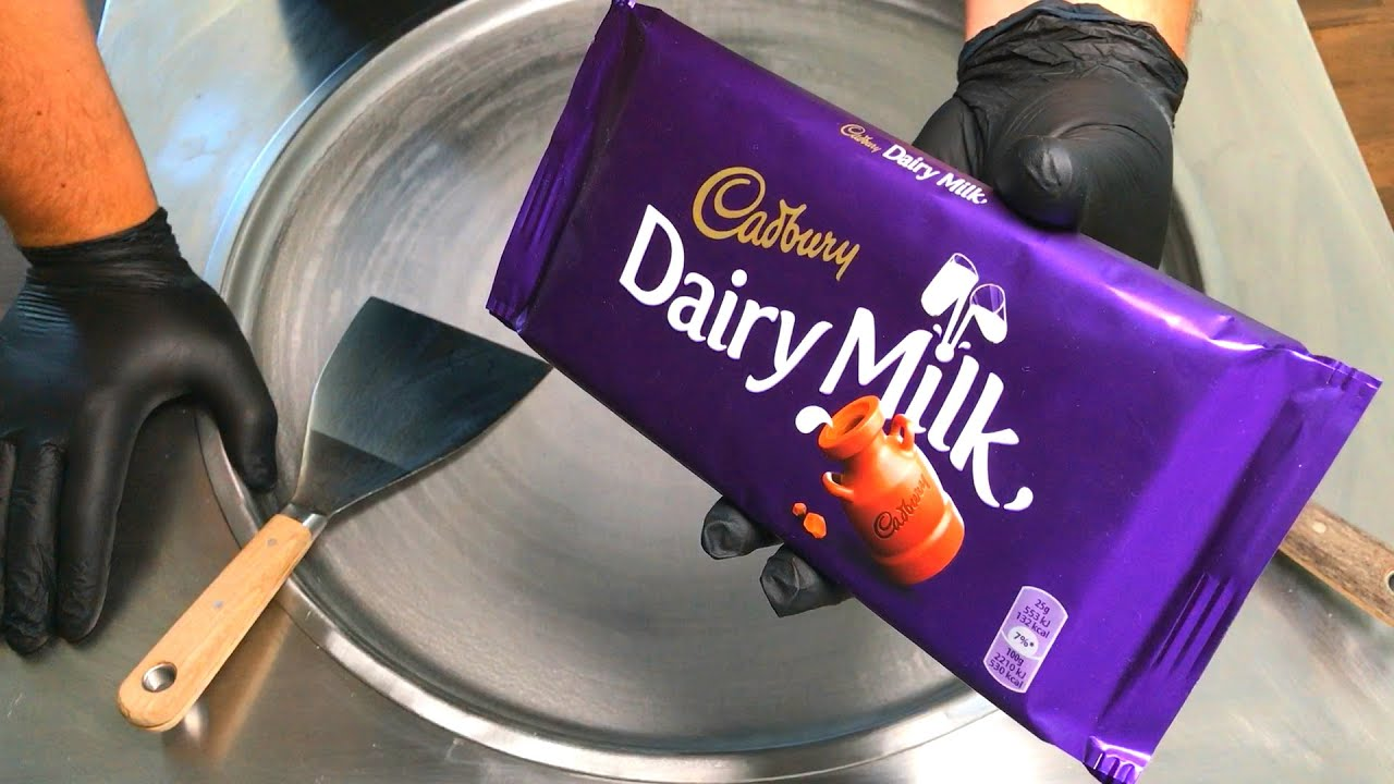 Ice Cream Rolls | Cadbury – Dairy Milk Chocolate Ice Cream / fried Thailand rolled ice cream roll