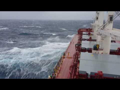 Rough weather in central Mediterranean