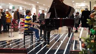 Head Banging Girl With Bohemian Rhapsody Piano Shopping Mall Cole Lam 11 Years Old