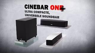 Cinebar One – Teufel's kleinste HDMI soundbar – optioneel met draadloze subwoofer