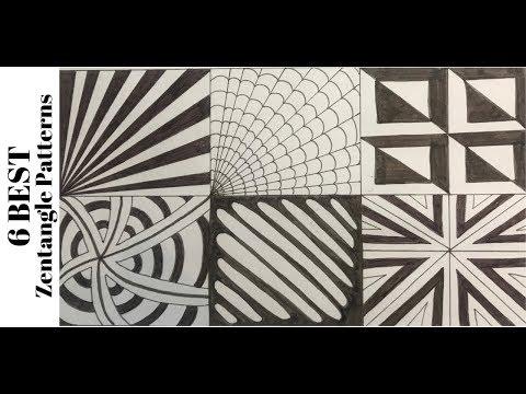 zentangle patterns step by step | Nikkies Tutorials