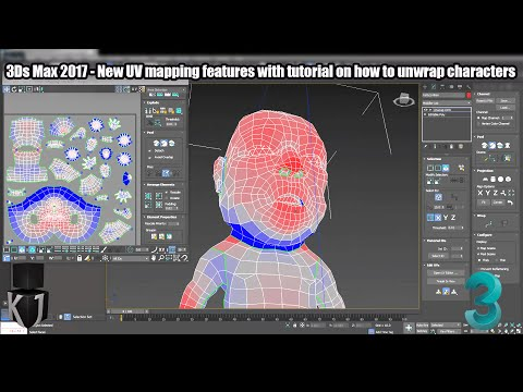 3Ds Max 2017 - New UV mapping features with tutorial on how to unwrap characters