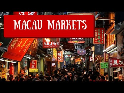 Macau Food Markets Macau China