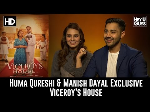 Huma Qureshi & Manish Dayal  Viceroy's House Exclusive