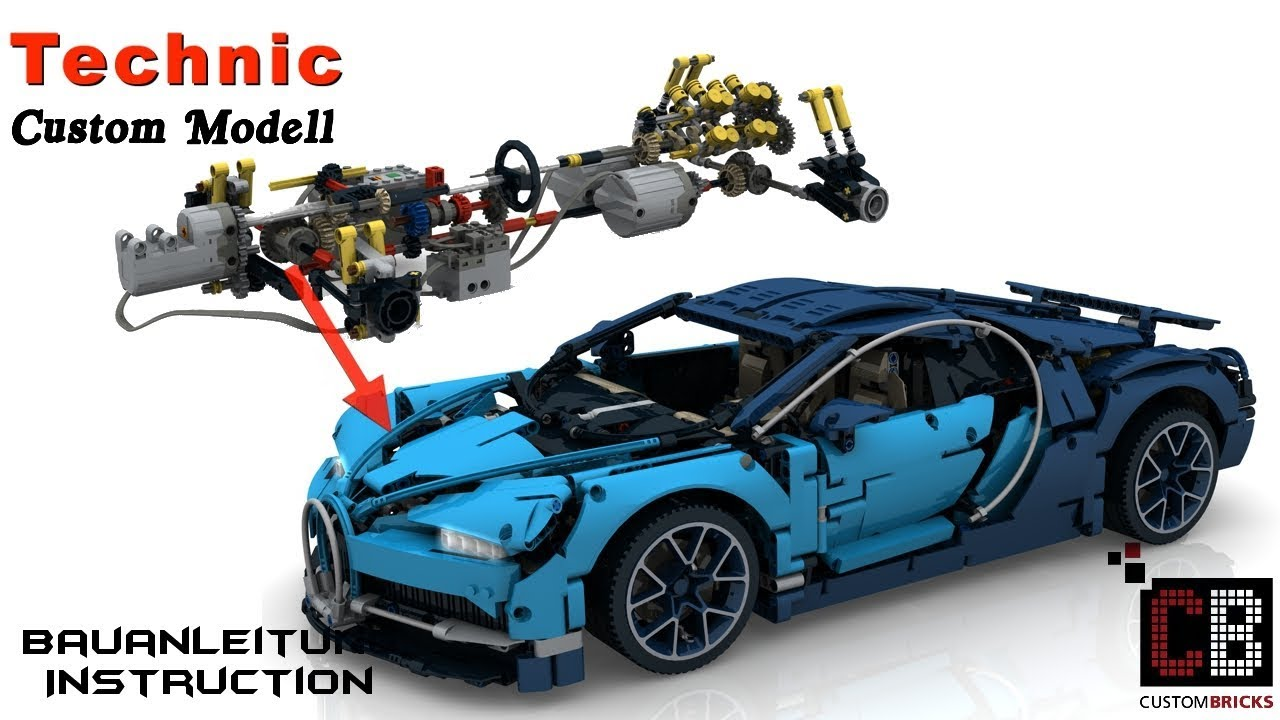 Cb Lego 42083 Technik Rc Bugatti Anleitung Mit Sbrick Youtube