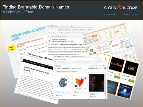Finding Brandable Domain Names