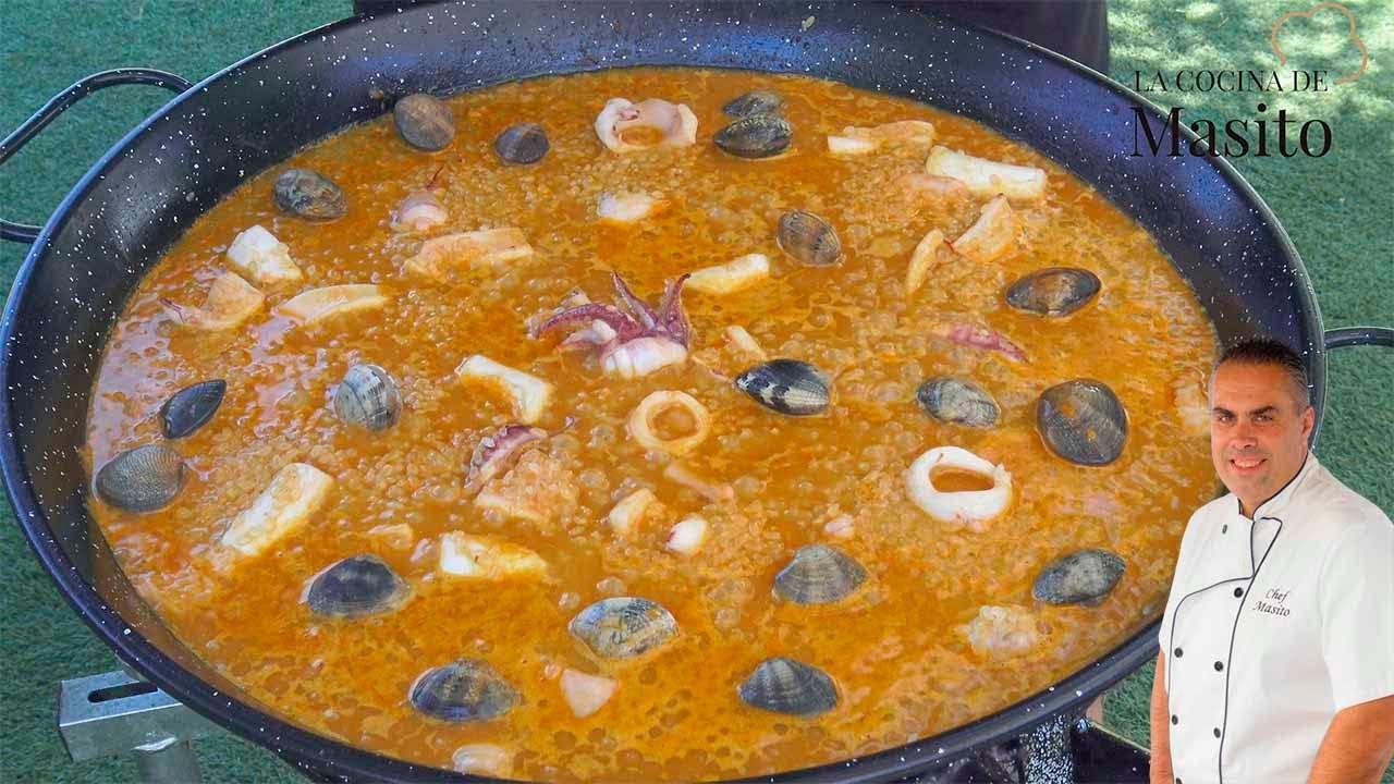 Paella marinera, muy fácil y muy rica, ademas, receta express