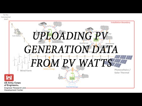 Uploading PV generation data from PVWatts