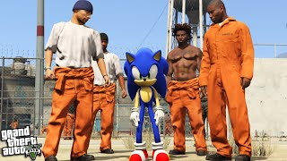 SONIC goes to PRISON (GTA 5 Mods)